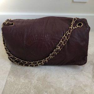 Chanel patent burgundy flap bag!